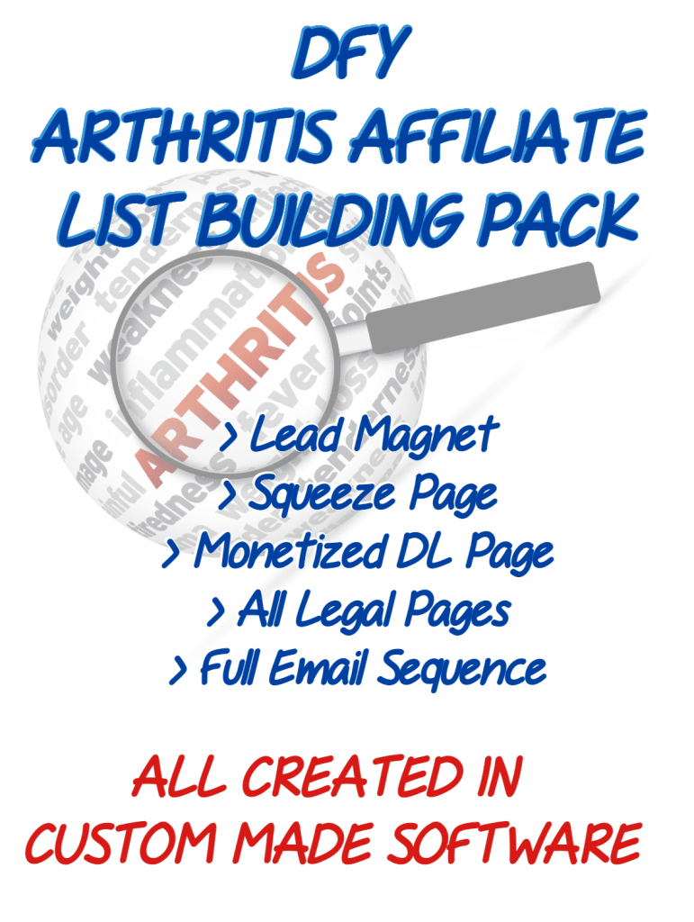 Arthritis Care Affiliate Listbuilding Pack Review with 🎁Custom Bonuses🎁 - 'Done-For-You' Affiliate Pack In The MASSIVE Arthritis Niche